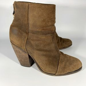 RAG & BONE Newbury distressed leather boots 37